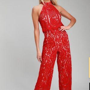 Lulu's Lace Jumpsuit (never-worn)